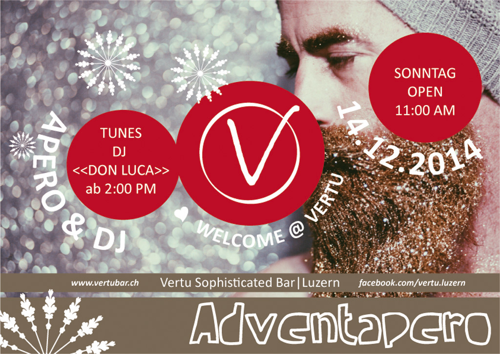 Save the Date! Adventapero mit DJ im Vertu.